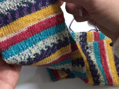 Fairy Little Vlogtober Picking up afterthought toe and cutting my knitting. Knitting Vlog
