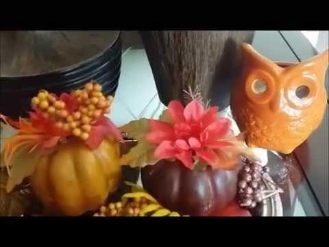 Fall & Thanksgiving home decor tour 2014
