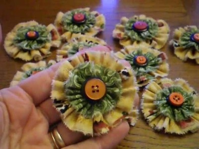 Flowers made out of Cotton Fabric