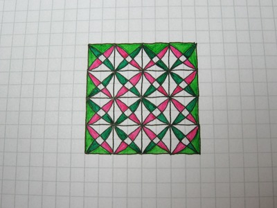 Geometric doodle pattern 1