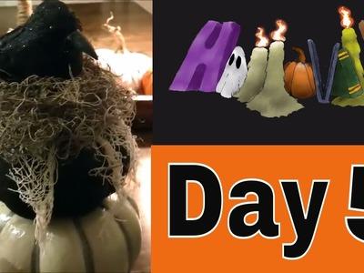 HalloWEEK Day 5 ???? Dollar Tree Halloween Topiary DIY!