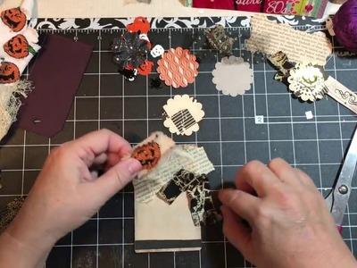 Halloween Embellishments, tags for junk journals using unusual items | dearjuliejulie