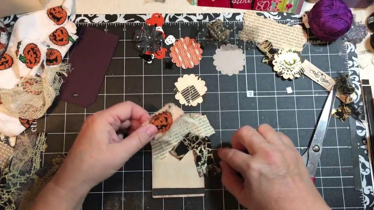 Halloween Embellishments, tags for junk journals using unusual items   dearjuliejulie