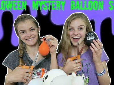Halloween Mystery Balloon Slime Challenge ~ Jacy and Kacy
