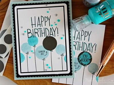 Happy Birthday Scratch Off Card (Simon Says Stamp Sept Card Kit)