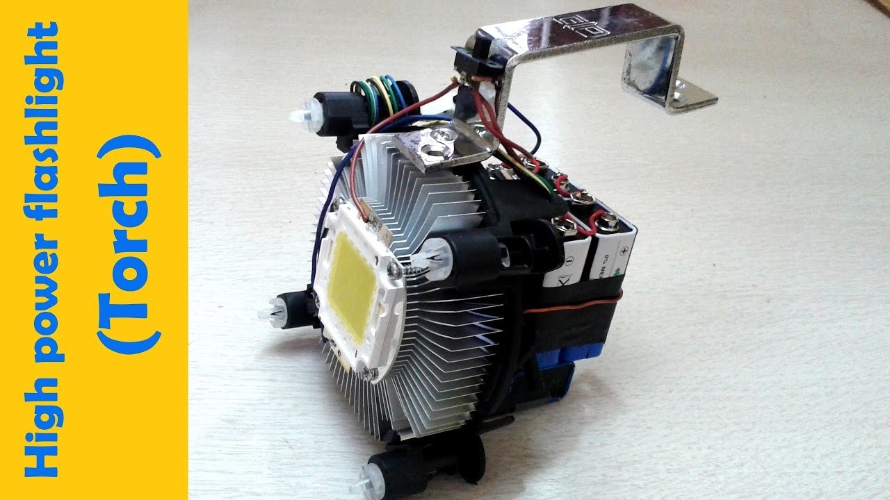 High power LED flashlight    how to make   