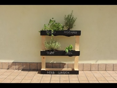 How To Build A Pallet Herb Garden