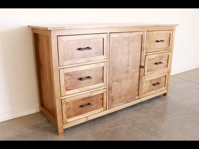 How To Build a Rustic Dresser