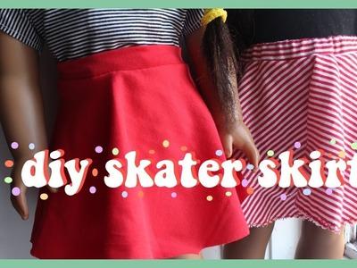 HOW TO DIY SKATER SKIRT FOR AMERICAN GIRL DOLL
