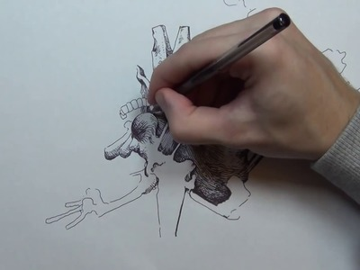 How to draw a thing with a bic pen. [speed edit]