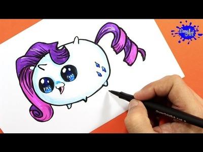 How to Draw Rarity (Tsum Tsum). Como Dibujar a Rarity (Tsum Tsum) . Easy art