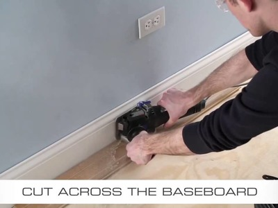How To Flush Cut Baseboard with Dremel US40 Ultra Saw