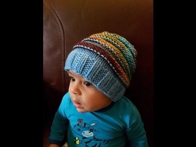 How to knit baby hat from 6 to 12 months