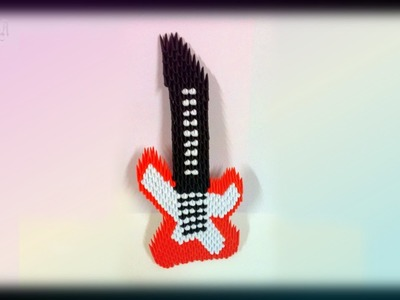 How to make 3d origami  Guitarra