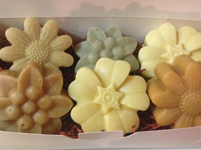 How to make 6 different soaps from 1 batch.easy gift set. using Essential oil, goat milk, honey