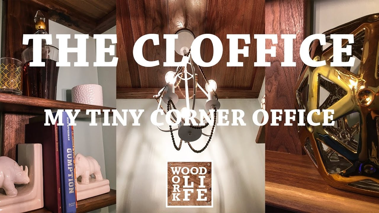 How To Make a Closet Office [Cloffice] Converting a Closet Into an Office - Wood Work LIFE Builds
