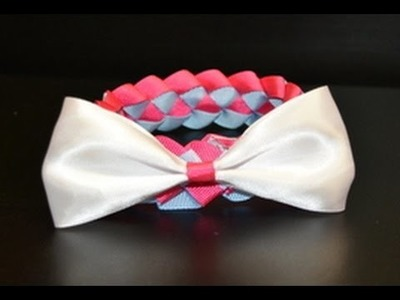 How to make a diamond weave bun wrap with a bow