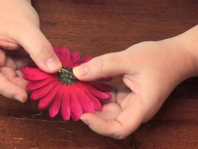 How to Make a Fake Flower Brooch Hairpin : Jewelry & Other Cool Crafts
