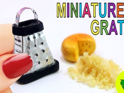 "How to Make a Miniature Dollhouse Cheese Grater  That ""Really Works!"""