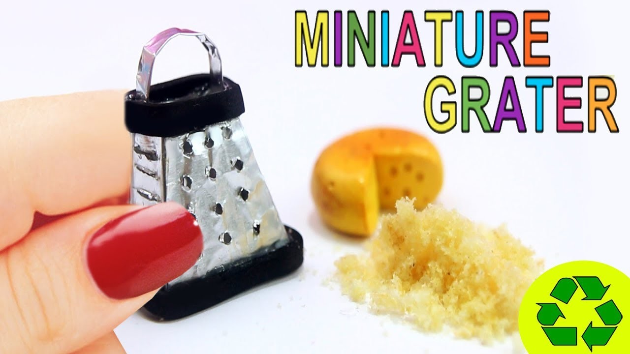 """How to Make a Miniature Dollhouse Cheese Grater  That """"Really Works!"""""""