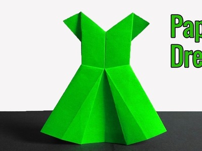 How to make a Paper Dress | Simple craft ideas with Paper | Simple Origami