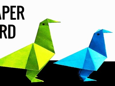 How to make a simple Paper Bird | Simple craft ideas with paper | Simple Origami