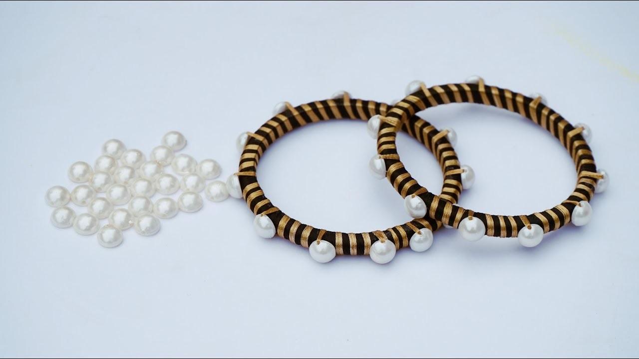 How To Make Designer Silk Thread Fancy Side Bangles.How To Make Silk Thread Bangles . DIY