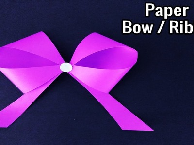 How to make Paper Bow.Ribbon | Cool craft ideas with paper | Origami tutorial