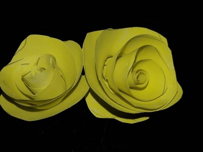 How to Make Paper Flower In 2 Minutes