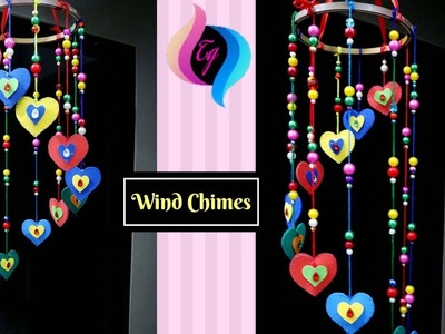 How to make wind chimes out of paper - Paper wind chimes craft - Paper wall hanging ideas