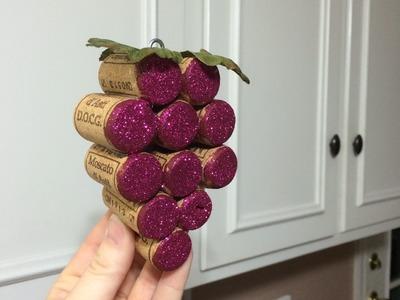 How to Make: Wine Cork Grape Bundles