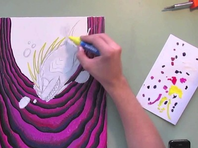 How To Paint On Canvas With BoardStix Paint Pens