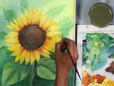 How to Paint Sunflower in Acrylic | step by step