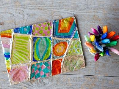 Kids Activity: Aliminum Foil Zentangle Tutorial (By Kids For Kids)