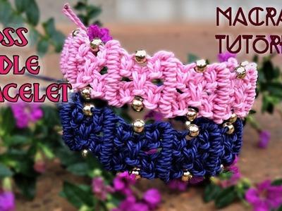 Macrame tutorial:  The cross bundle bracelet - Easy step by step guide