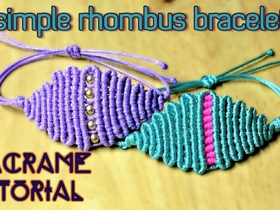 Macrame tutorial - The rhombus pattern bracelet