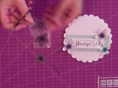 Make 3D shrink plastic flowers for your cards