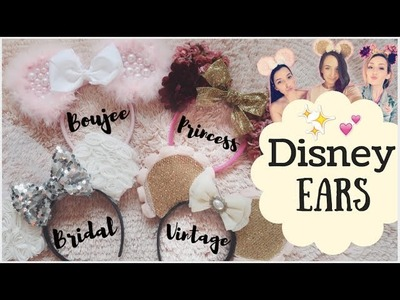 Make MINNIE MOUSE Ears With Us! Vintage, Boujee, Bridal, Halloween & MORE!