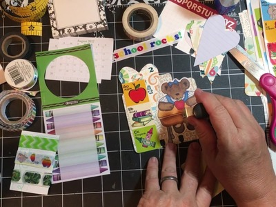 Memory Dex Monday - Ways to use Washi - starburst, banners - back to school | dearjuliejulie