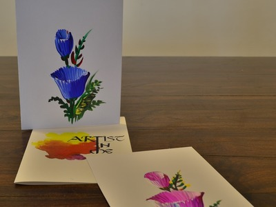 One Stroke Painting to make Beautiful Flower