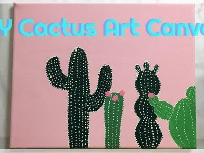 Paint With Me   DIY Cactus Art Canvas