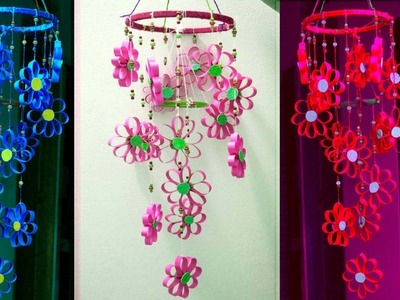 Paper wind chimes craft - How to make wind chimes out of paper - Paper wall hanging ideas