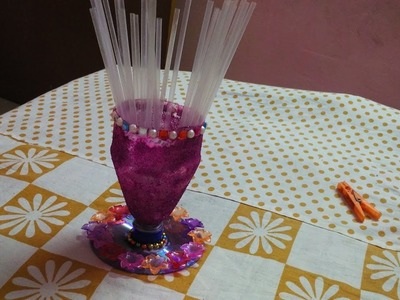 Pen Holder from waste bottle and CD, || DIY || art with neha ||