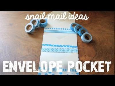 Pen pal Tutorial : Pocket Envelope  for Snail Mail