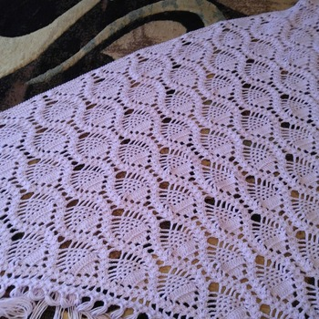 Pineapple Purple Shawl