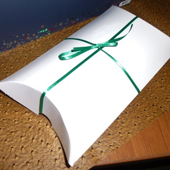 Quality leather case wrapped in the pillow gift box