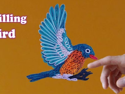 Quill paper | How to make a Beautiful Quilling Bird | Paper Quilling Art