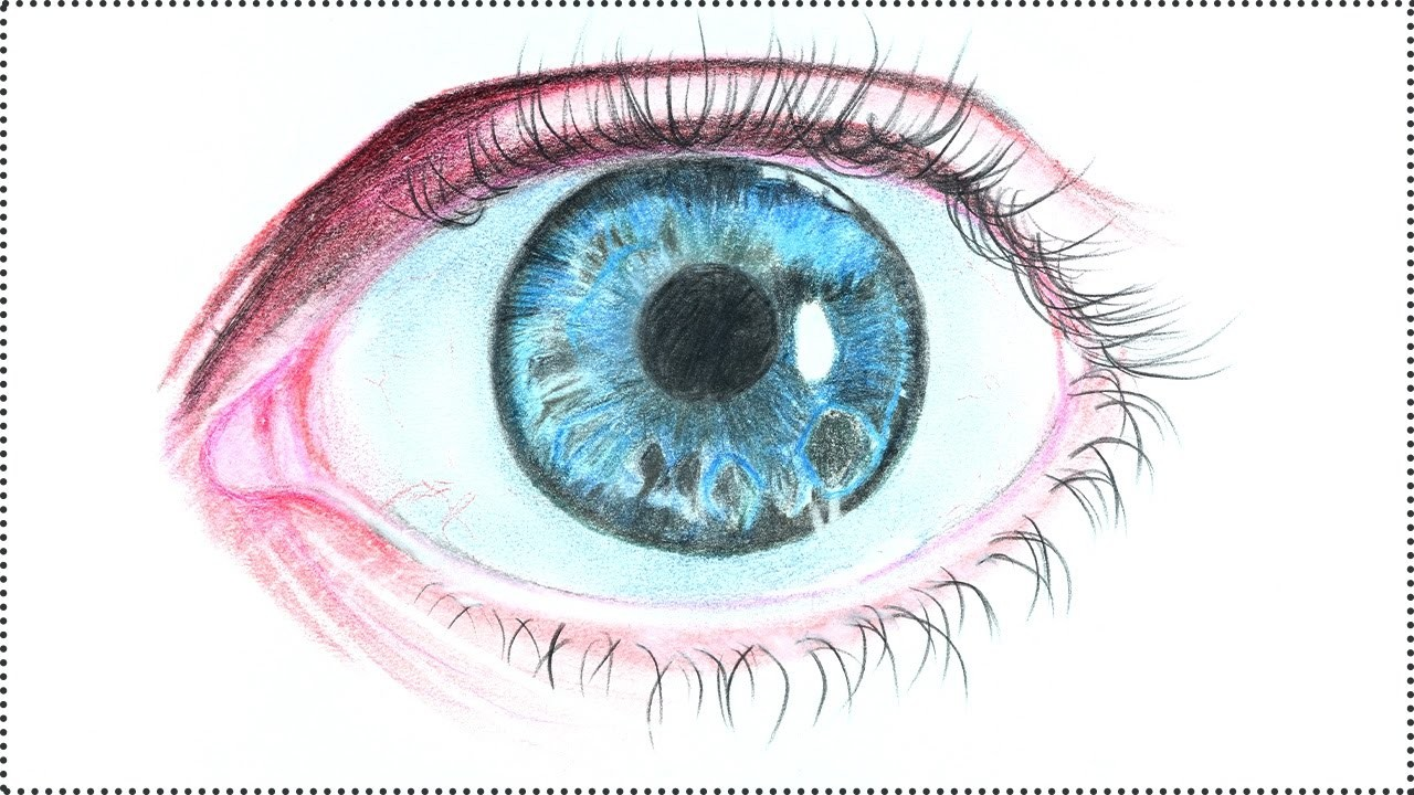 Realistic eye drawing how to draw realistic human eye step by step