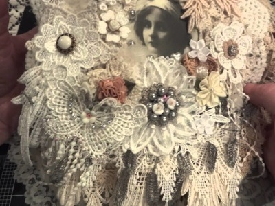 Shabby Chic Fabric.Doily Book - (Flower Girls) Project Share!