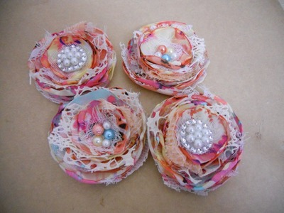 Shabby layered lollipop flower tutorial